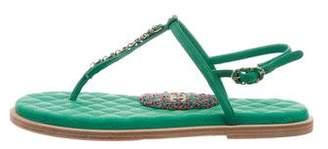 Chanel 2018 CC Sandals