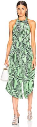 Tibi Zebra Print Halter Jumpsuit in Mint Multi | FWRD