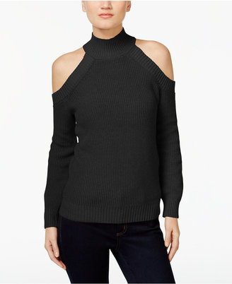 Inc International Concepts Cold-Shoulder Sweater, Only at Macy's $69.50 thestylecure.com