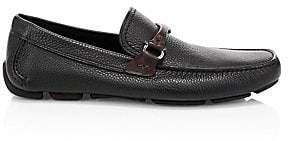Salvatore Ferragamo Men's Gancini Bit Leather Driver Moccasins