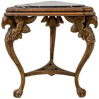 One Kings Lane Vintage Antique Carved Italian Marble Top Table - Von Meyer Ltd.