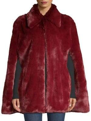 Burberry Allford Plush Faux Fur Cape Jacket