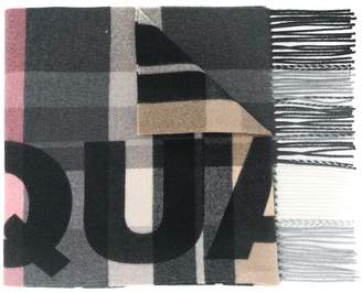 DSQUARED2 checked logo scarf