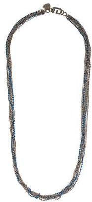 Giles & Brother Crystal Multistrand Necklace $75 thestylecure.com