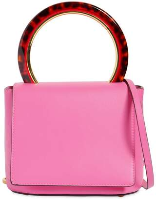Marni Squared Pannier Leather Top Handle Bag