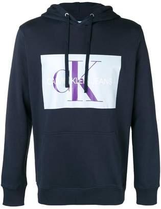 CK Calvin Klein logo patch hoodie