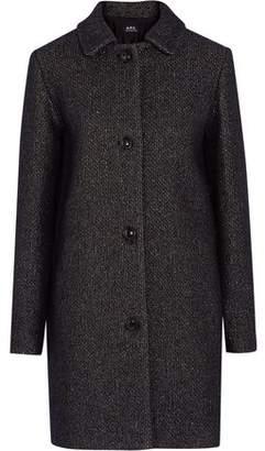 A.P.C. Rooney Metallic Wool-Blend Coat