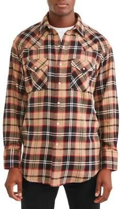 Plains Men's Long Sleeve Flannel Western Shirt