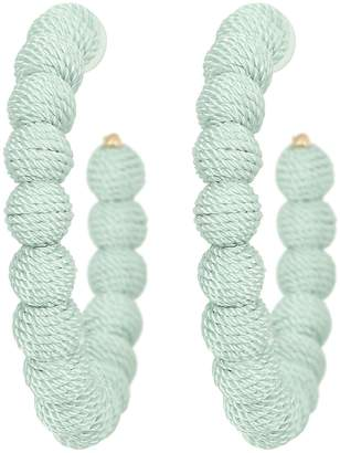 Kenneth Jay Lane Threaded Hoop Earrings