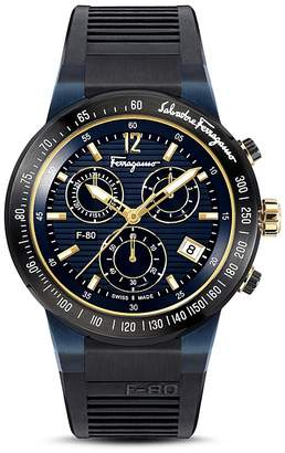 Salvatore Ferragamo F-80 Chrono Blue Watch, 44mm