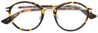 Christian Dior round frame tortoiseshell glasses