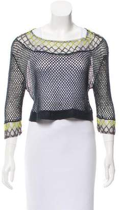 Opening Ceremony Embellished Open-Knit Sweater