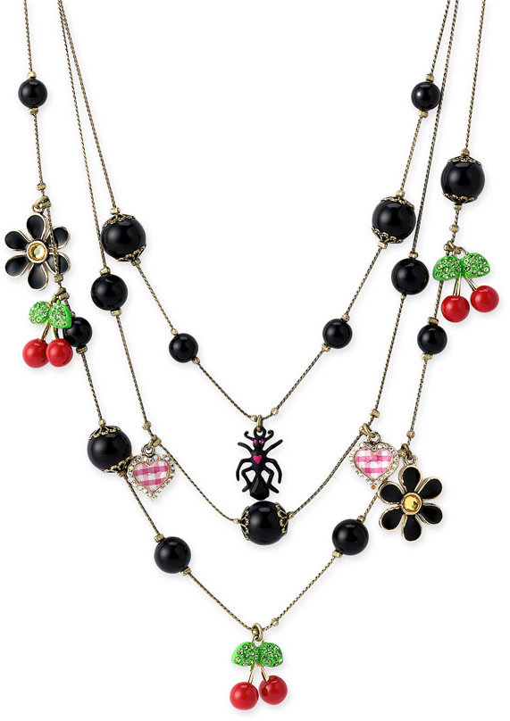 Betsey Johnson 'Betsey's Picnic' Illusion Necklace