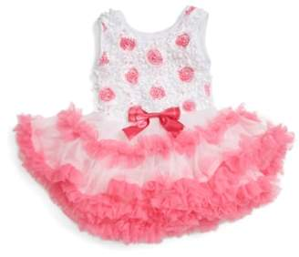 Popatu Ribbon Rosette Flower Pettidress