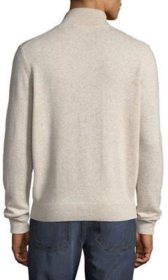 Neiman Marcus Half-Zip Cashmere Sweater