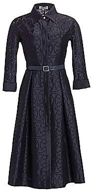Teri Jon by Rickie Freeman Women's Embroidered Shirtdress