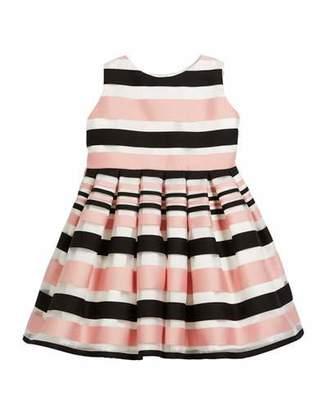 Helena Satin Stripe Dress, Size 7-14