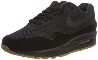 Nike Men's Air Max 1 Gymnastics Shoes, Black/Gum Med Brown 007