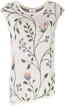 Christian Wijnants sleeveless floral print knitted top