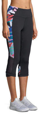 Nanette Lepore Play Print-Splice Capri Leggings