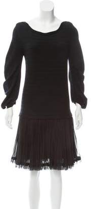 Sacai Striped Knee-Length Dress