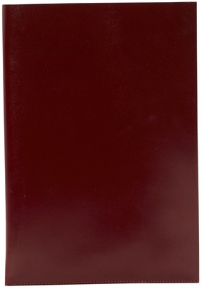 Hermes Burgundy Leather Clutch Bag