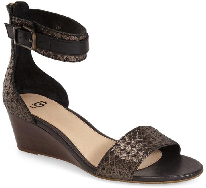 UGGUGG Australia Char Ankle Strap Wedge Sandal