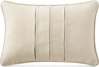"""Waterford Charlize Pleated Gray 12"""" x 18"""" Decorative Pillow"""