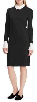 Lauren Ralph Lauren Layered Ponte Shift Dress