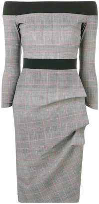 Chiara Boni Le Petite Robe Di ruched checked dress