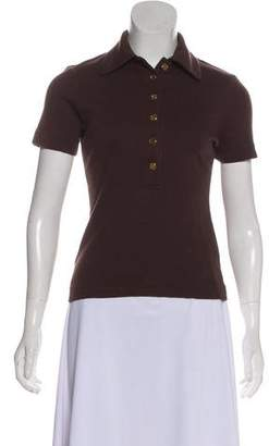 Tory Burch Knit Polo Top