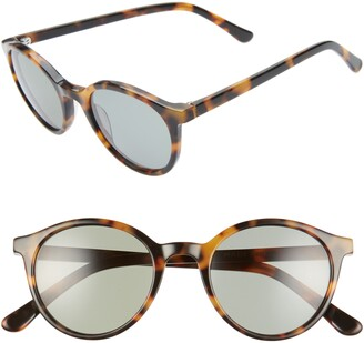 Madewell Layton 48mm Round Sunglasses
