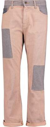 McQ Patchwork Mid-Rise Straight-Leg Jeans