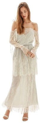 Women's Topshop Bride Bardot Lace Off The Shoulder Gown $850 thestylecure.com