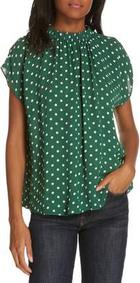 Lewit Polka Dot Short Sleeve Top