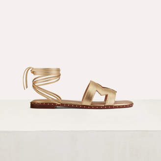 Maje Flat leather sandals