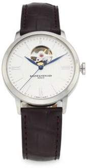 Baume & Mercier Classima 10274 Automatic Stainless Steel and Alligator Strap Watch