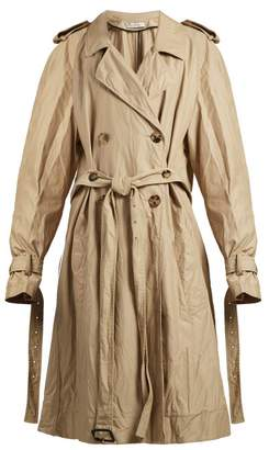 J.W.Anderson Double Breasted Twill Trench Coat - Womens - Beige