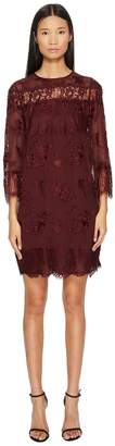 The Kooples Dress in Embroidered Fabric with Lace Women's Dress