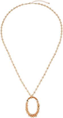 Stella & Ruby Embellished Pendant Necklace Pink