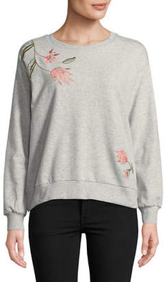 Two By Vince Camuto Embroidered Long-Sleeve Sweatshirt