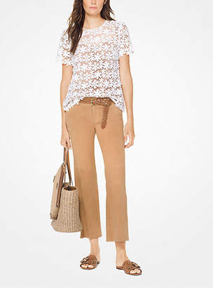 Michael Kors Mixed Floral Lace Top