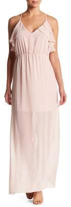 BCBGeneration Ruffle Bodice Maxi Dress