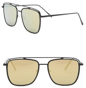 Quay Mr. Black 57mm Aviator Sunglasses