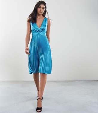 Reiss Alicia Knife Pleat Midi Dress