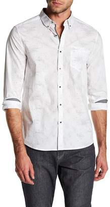 Kenneth Cole New York Star Print Tailored Stretch Fit Shirt