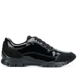 Geox varnished lace-up sneakers