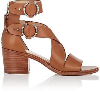 Rag & Bone WOMEN'S MARI LEATHER DOUBLE-BUCKLE SANDALS