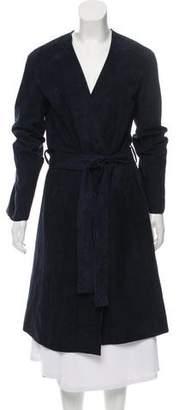 Vince Leather Long Coat