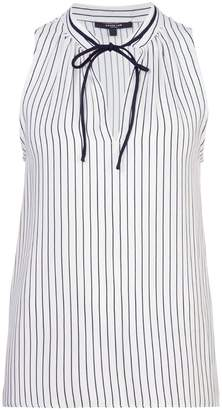 Derek Lam Sonia Striped Sleeveless Blouse
